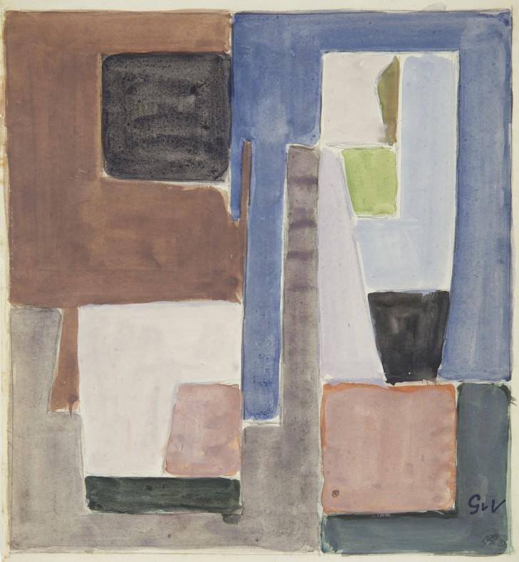 Geer van Velde, Composition, 1955
