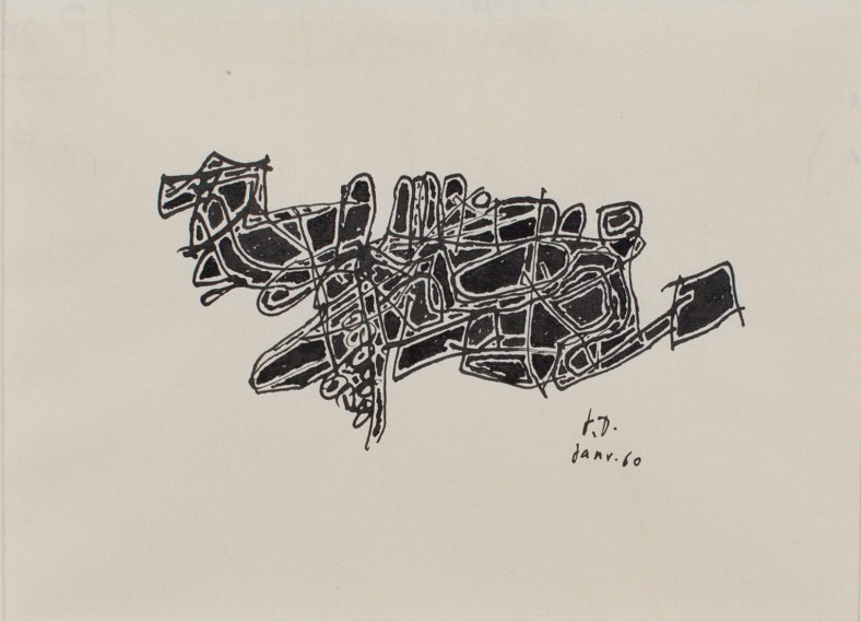Jean Dubuffet, Motif Drawings for the Pataphysical College , 1960