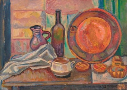 Pinchus Kremegne, Still life with Plate, 1918