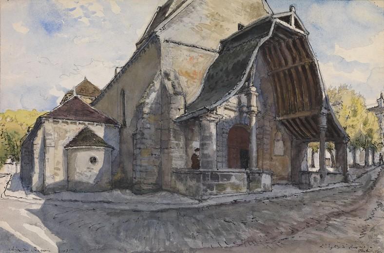 Alexandre Nikolayevich Benois, The Church d'Avon at Fontainbleau, 1935