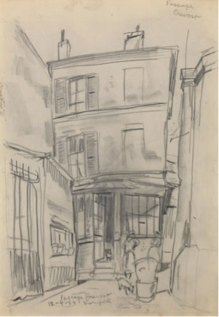 Leonard Tsuguharu Foujita, Passage Prevost, 1954