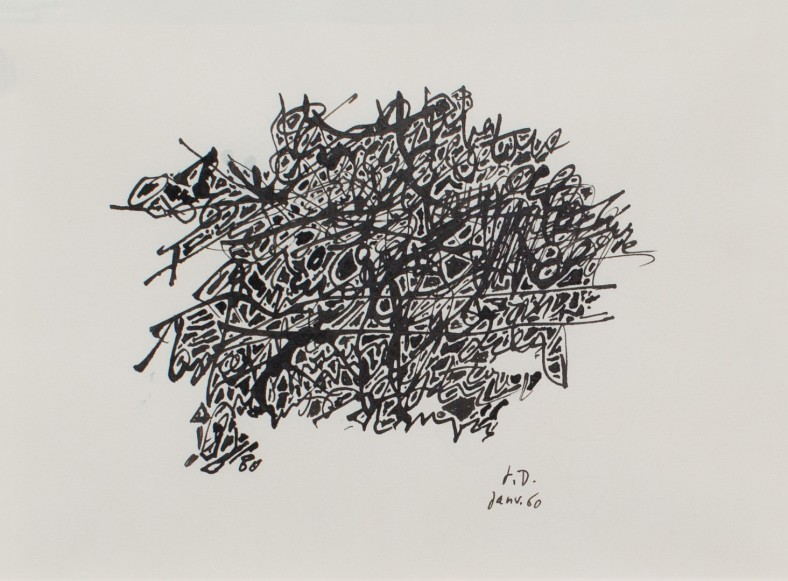 Jean Dubuffet, Motif : Drawings for the Pataphysical College, 1960