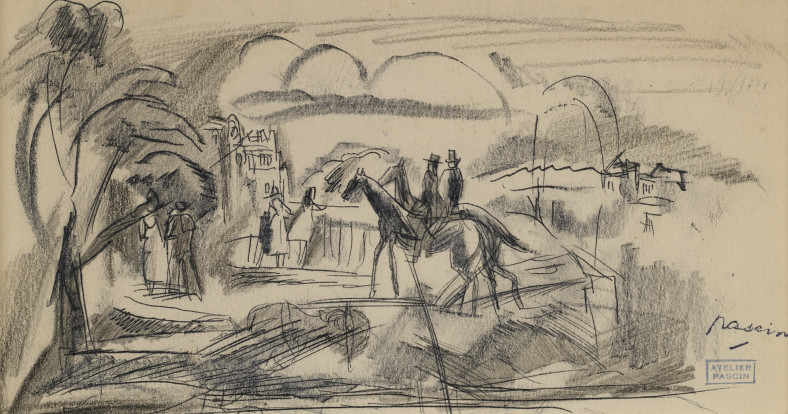 Jules Pascin, Riders, 1915