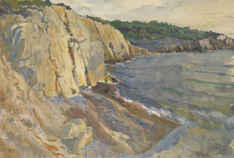 Alexandre Nikolayevich Benois, The View of the Cliffs at Sanary, 1927