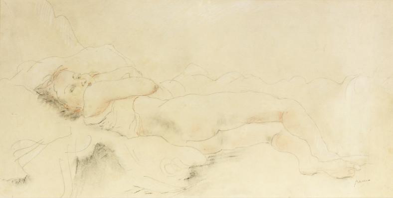 Jules Pascin, Alberte Reclining, 1929
