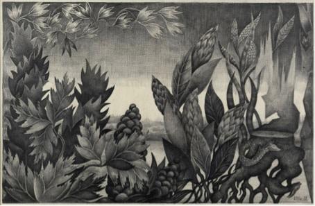 Valentina Kropivnitskaya, Shrubbery and Tall Grass, 1977