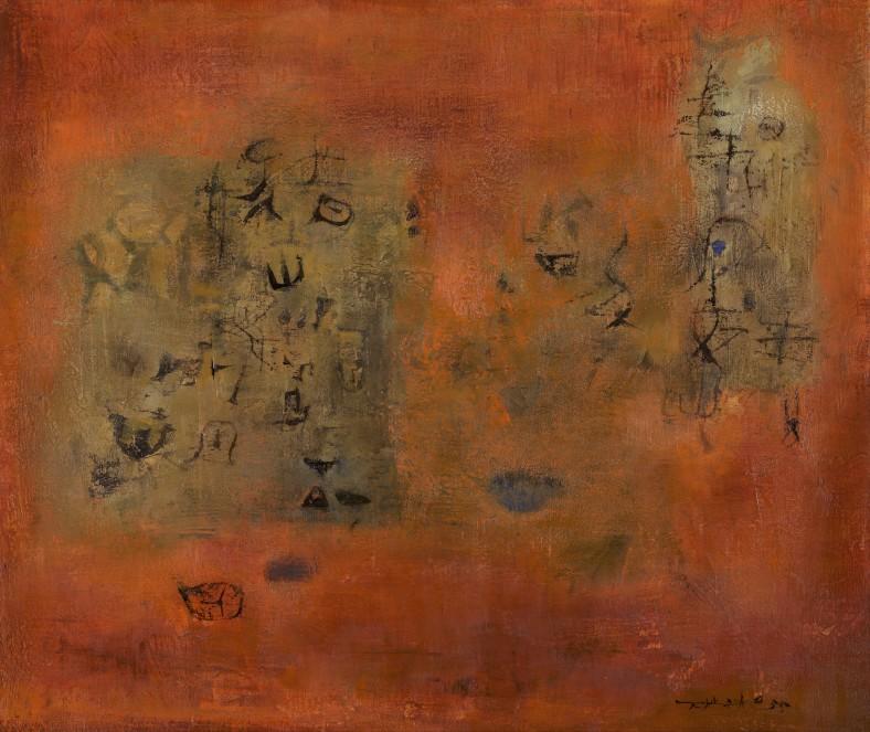 Zao Wou-Ki, Les attiseurs, 1955