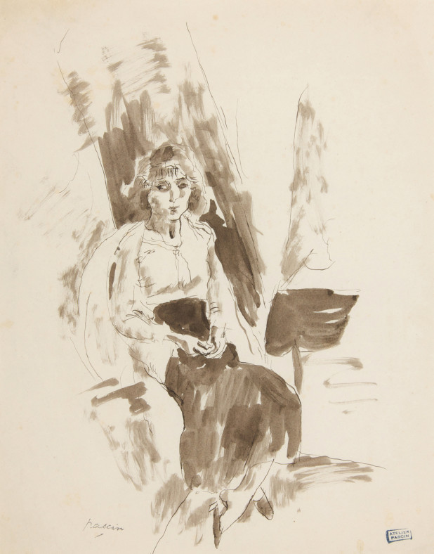 Jules Pascin, Hermine Seated, 1912