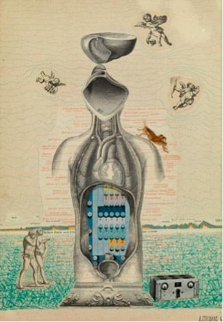 Anatoli Brussilovsky, Anatomy with cherubs, 1963