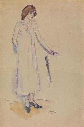 Jules Pascin, Hermine Standing, 1908