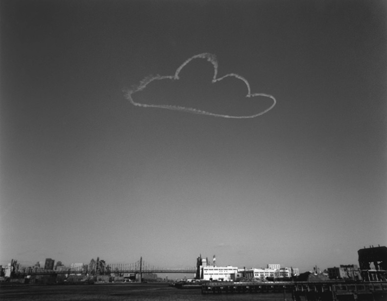 vik muniz pictures of clouds: 59th bridge, 2002