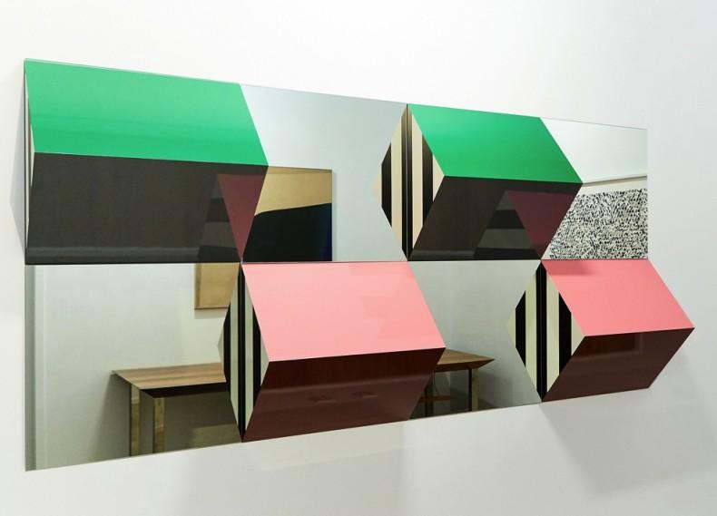 Daniel Buren Prismas e Espelhos, alto relevos, trabalhos situados 2016/2017 para são Paulo, 2017