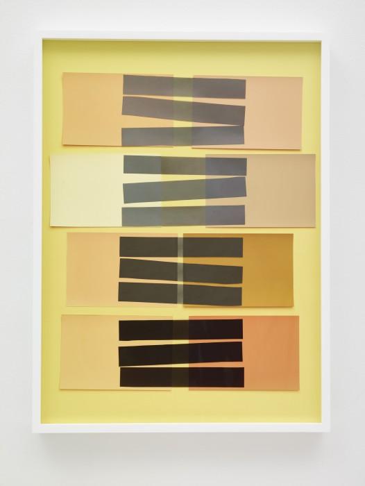 Vik Muniz Handmade: Interaction of Color 24 (Rectangles, Black Stripes), 2017