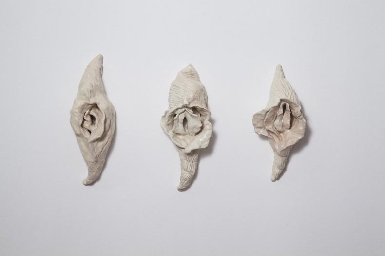 Conchas Vagina Cerâmica esmaltada 26,5 x 12 x 9 cm (cada)