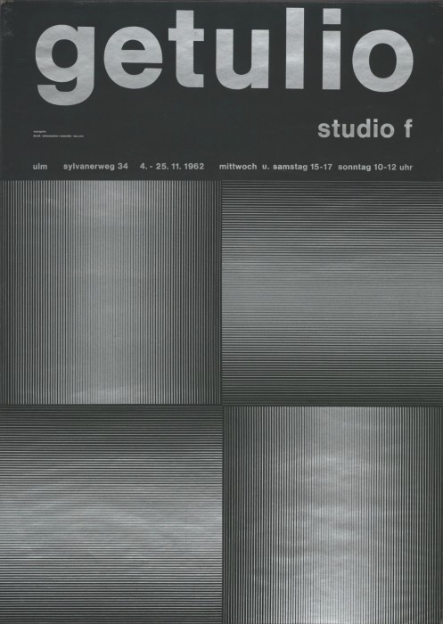 Almir Mavignier Getulio, Studio F, 1962