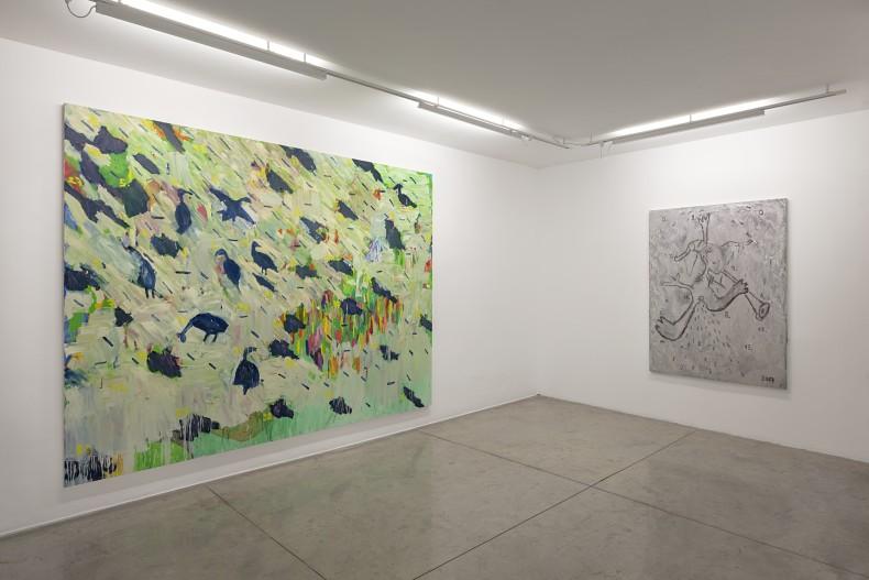 vista da exposição -- bruno dunley: no meio -- galeria nara roesler | são paulo, 2018