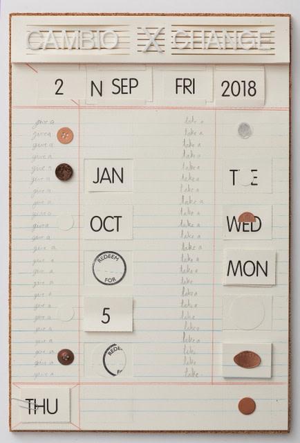 casa de cambio, 2018 técnica mista sobre papel 45,7 x 30,5 cm