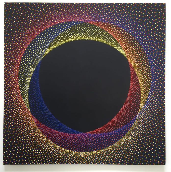 Julio Le Parc Alchimie 392, 2018 tinta acrílica sobre tela 100 x 100 cm