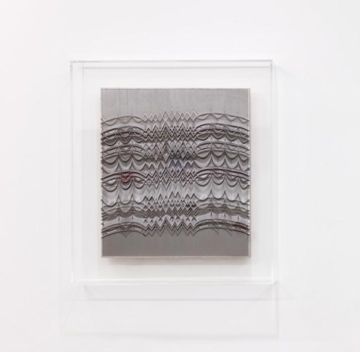 Abraham Palatnik Sem título, 2018 relevo progressivo cartão duplex e madeira 80 x 70 cm