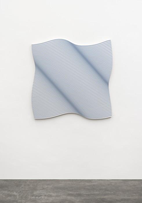 Philippe Decrauzat Flag wave 2019 tinta acrílica sobre tela 119 x 119 cm