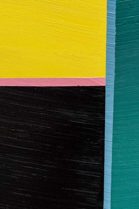Alexandre Arrechea Paintings and conflict 1, 2019 [detalhe] acrílica sobre tela 180 x 122 x 5,5 cm