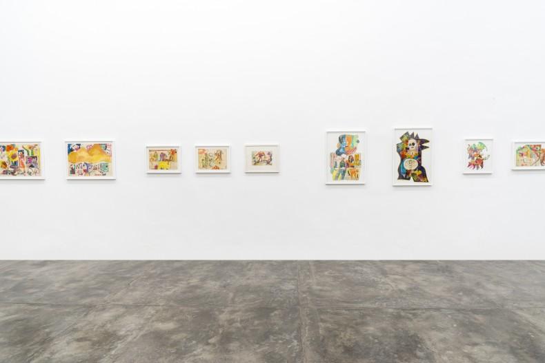 Sérgio Sister, Imagens de uma juventude pop – Pinturas políticas e desenhos da cadeia, vista da exposição, 2019. Foto ©...