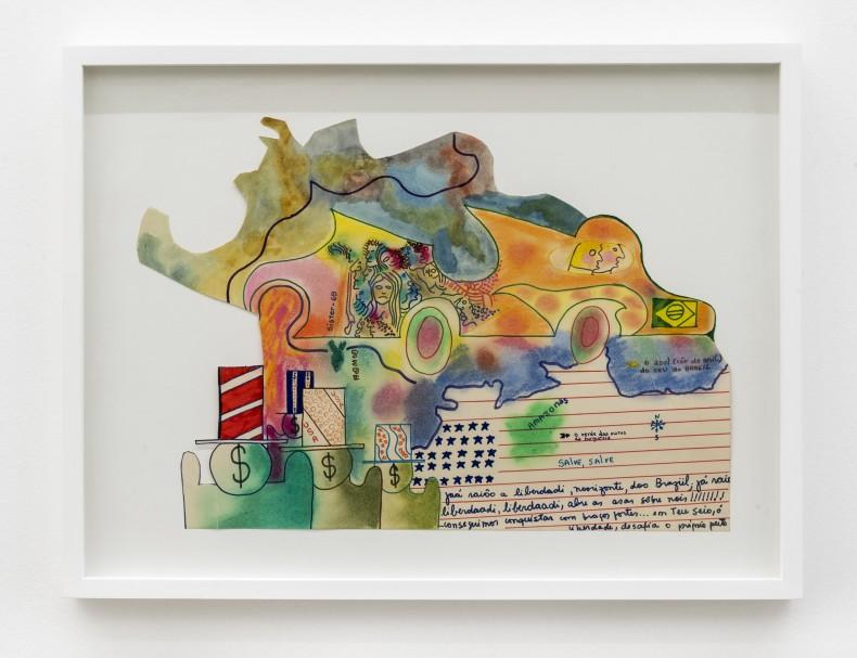 Sérgio Sister Sem título, 1969 tinta Ecoline, lápis, giz pastel oleoso e caneta hidrográfica sobre papel 44 x 29,5 cm
