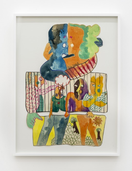 Sérgio Sister Sem título, 1970 tinta Ecoline, lápis, giz pastel oleoso e caneta hidrográfica sobre papel 68 x 46 cm