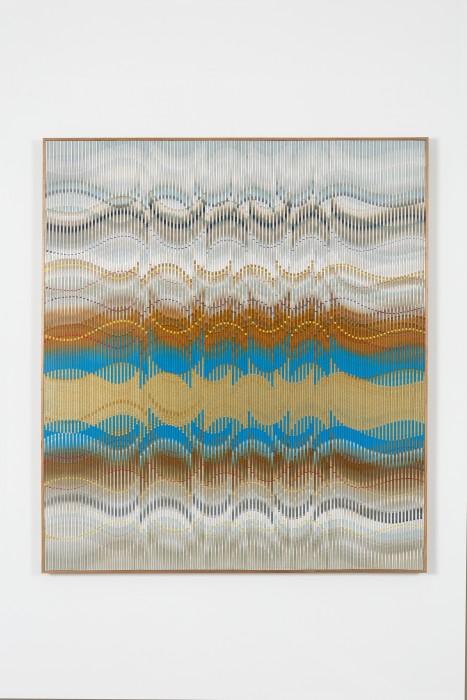 Abraham Palatnik W-VA/6, 2019 tinta acrílica e esmalte sobre madeira 125 x 110 cm