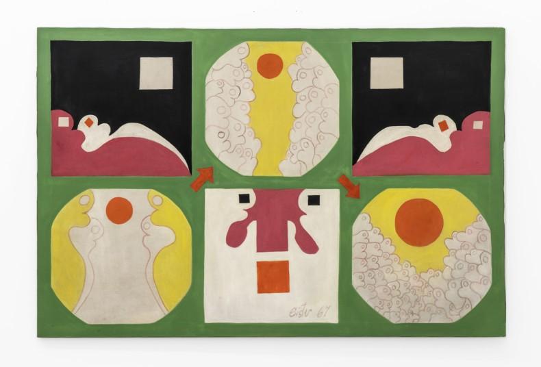 Sérgio Sister Sem título, 1967 tinta acrílica sobre tela 97 x 146 cm/38.2 x 57.5 in