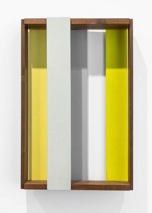 Sérgio Sister Caixa 310F, 2018 tinta óleo e tinta vinílica sobre madeira 38 x 25 x 7 cm/15 x 9.8...