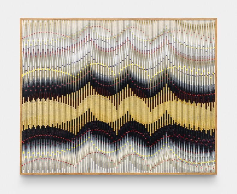 Abraham Palatnik W-MA 3, 2019 tinta acrílica e esmalte sobre madeira 70 x 80 cm