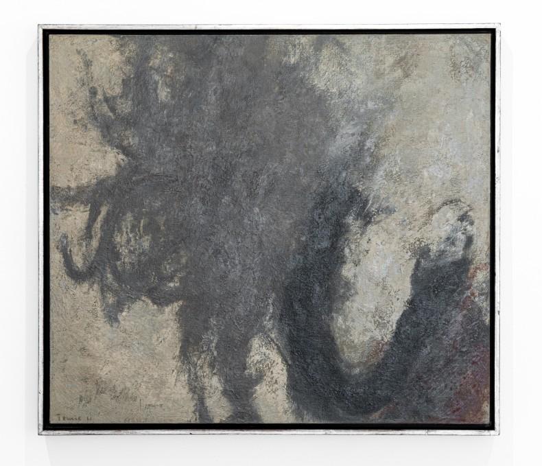 Tomie Ohtake Sem título, 1961 tinta óleo sobre tela 75 x 85 cm