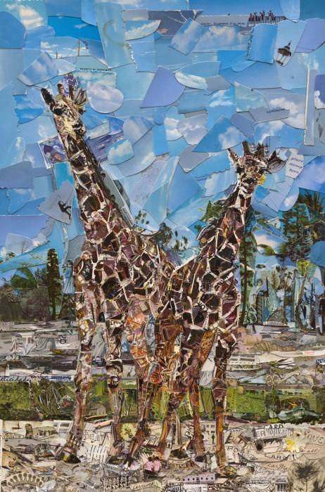 vik muniz, postcards from nowhere: lion country safari, west palm beach, florida, 2014