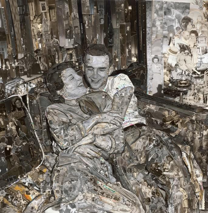 vik muniz, album: couple, 2014