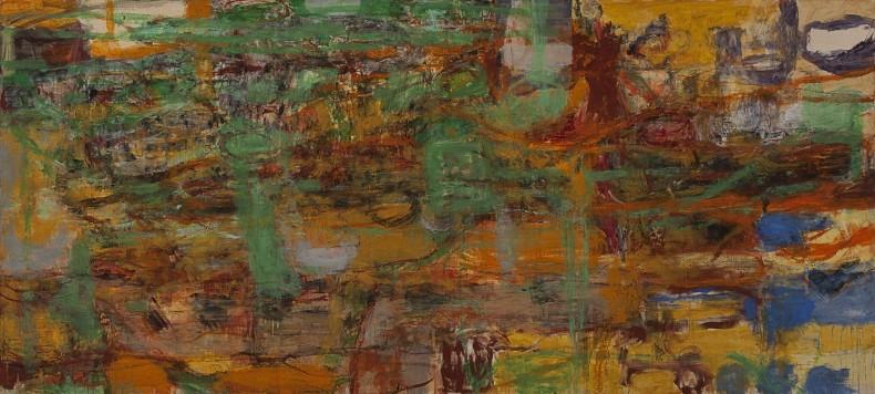 sem título, 1991 óleo e cera sobre tela 181 x 400 cm