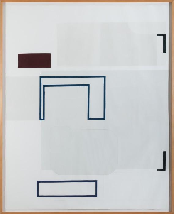 sem título, 2008 óleo e cera sobre papel 195 x 158 cm