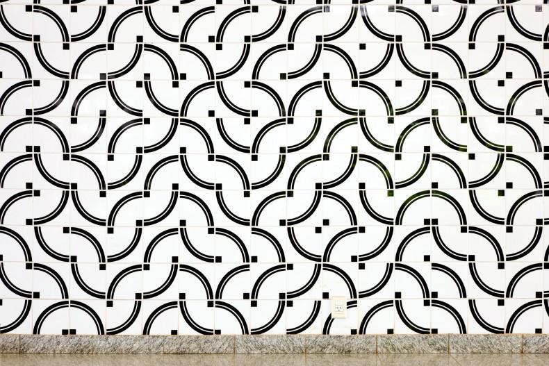 painel de azulejos instituto rio branco arq luis antonio reis, brasília, 1998 foto Edgard Cesar -- detalhe