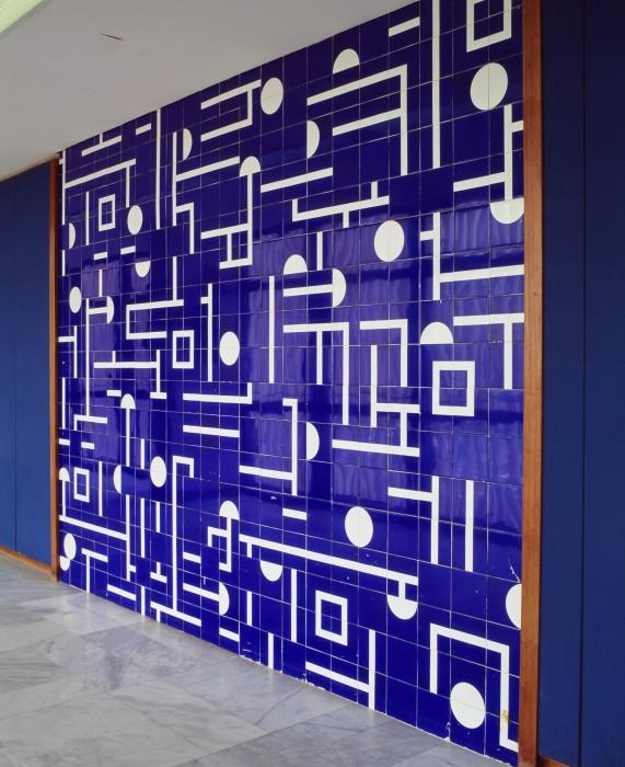 detalhe painel azulejos palácio itamaraty anexo I dgap 8º andar brasília arq oscar niemeyer foto/photo edgard cesar