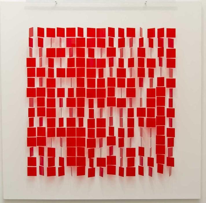 julio le parc mobile rouge sur blanc, 1960/1995