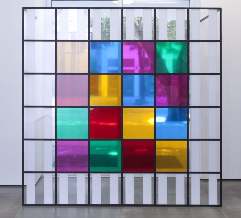 daniel buren cores, luz, projeção, sombras, transparência: obras in situ 5, 2015