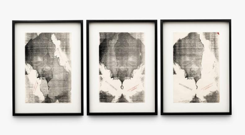 Paulo Bruscky Xeroperformance: still de Xerofilme, 1980 xerografia sobre papel 3 peças de 28 x 22 cm (cada)