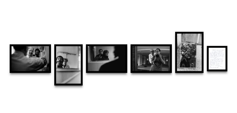 Vasco Szinetar série Frente al espejo, 1983-2020, fotografias 5 peças de 19,9 x 30 cm e uma peça de 17...