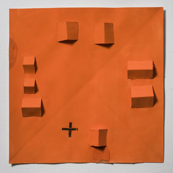 Karin Lambrecht A casa de São Matheus e Marie, 2009 cobre, dobraduras e recortes em papel 50 x 50 cm