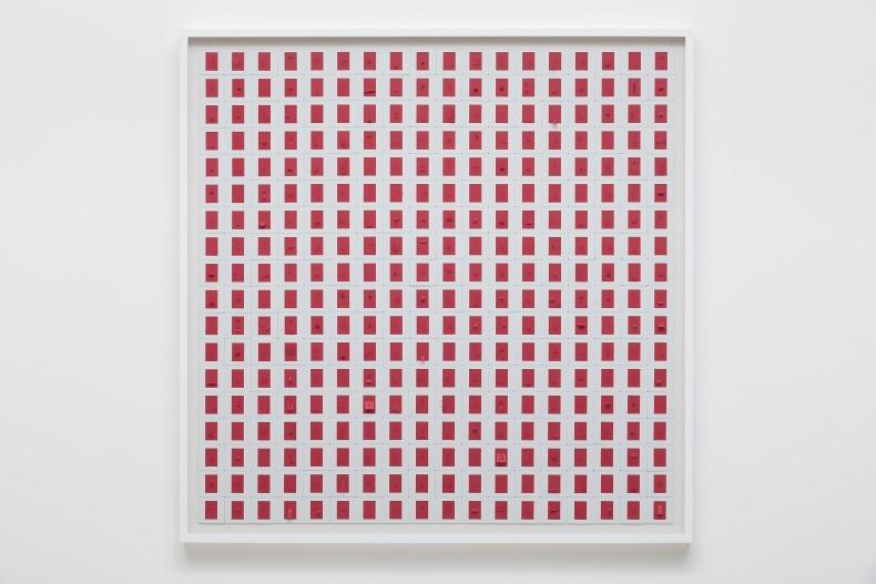 Marco Maggi Red slide, 2016 340 slides sobre dibond 90 x 90 cm
