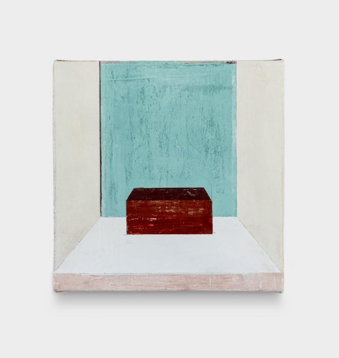 Fabio Miguez Sem título, 2020 tinta óleo e cera sobre linho 30 x 30 x 2,5 cm