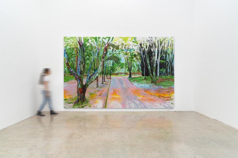 Maria Klabin Sem título, 2020 tinta óleo sobre linho 260 x 405 cm