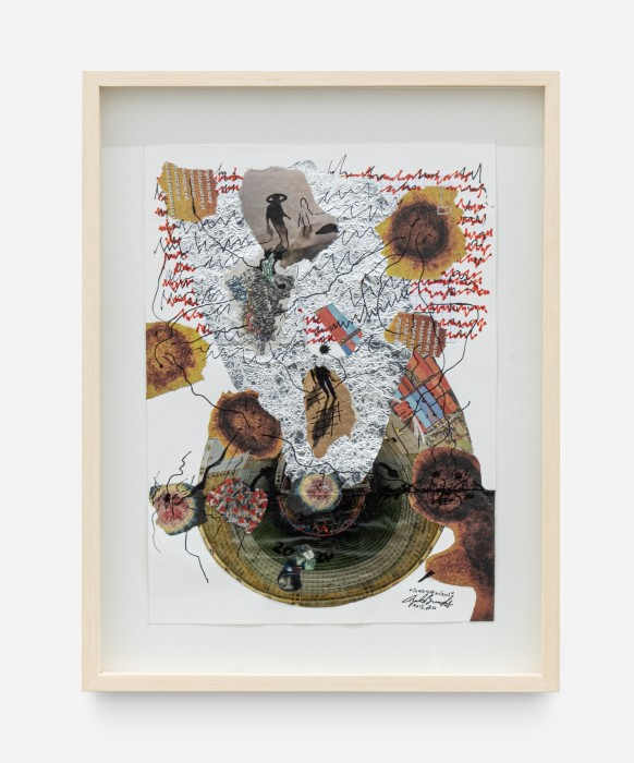 Paulo Bruscky Coronavírus, 2020 recorte de papel sobre papel 28,5 x 20,8 cm