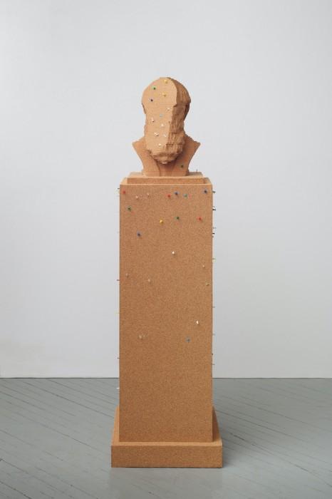 Paul Ramirez Jonas Ventriloquist III, 2013 cortiça, pushpins, contribuição do público edição de 2 + PA 177 x 46 x...
