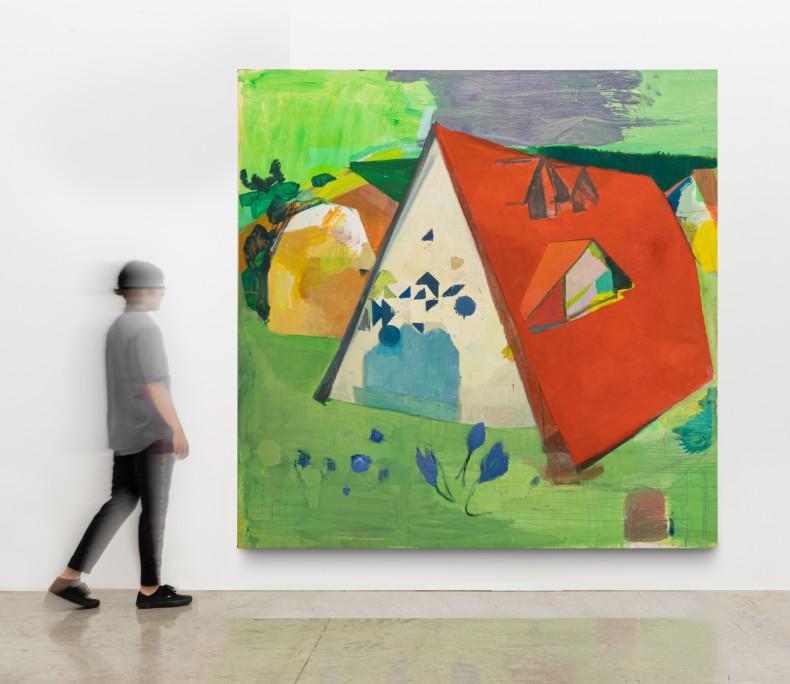 Cristina Canale Casa triângulo, 2014 técnica mista sobre tela 240 x 240 cm
